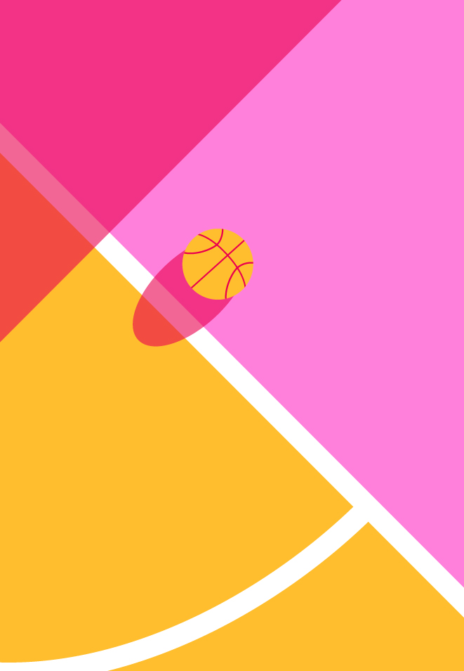Abstract Basketball Court